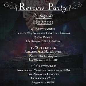 calendario review party in fuga da houdini